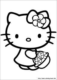 coloring luxury coloring kitty happy birthday