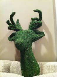 french silver diy paper mache stag head christmas projects