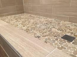 flooring excellent pebble shower floor pictures concept