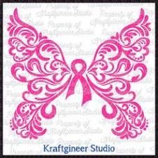 free breast cancer butterflies svg design pink out