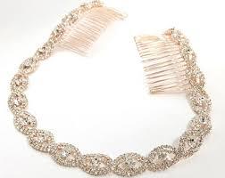 gold headband gold bridal headband etsy