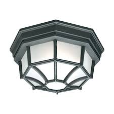 philips outdoor essentials 1 light outdoor flush mount black
