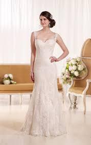 Wedding Dresses With Straps Sheath Wedding Dress With Shoulder Straps Essense Of Australia