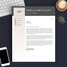 unique resume template creative resume template for word pages the amelia get landed