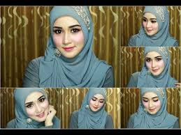 tutorial hijab segitiga paris simple 4 tutorial hijab segi empat paris rawis wisuda pesta kondangan