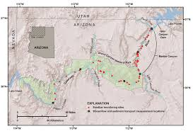 Grand Canyon Map Usa by Rebuilding Sandbars In The Grand Canyon