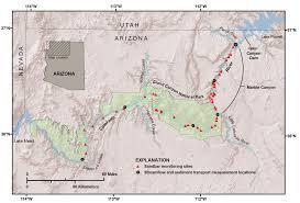 Map Grand Canyon Rebuilding Sandbars In The Grand Canyon