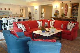 furniture red couch with chair cushions and fireplace screens