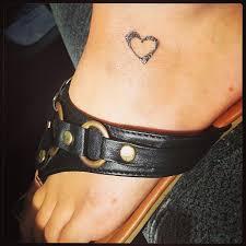 best tiny heart tattoo on ankle tattooshunt com