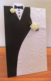 Wedding Day Card For Groom Card Invitation Design Ideas Bride And Groom Shape Greeting Cards