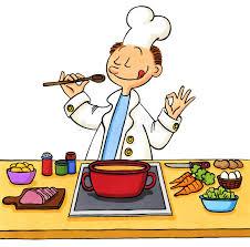 cuisine dessin animé dessin animé d un cuisinier dans la cuisine illustration stock