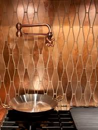 Copper Kitchen Backsplash Tiles Stunning Copper Backsplash For Modern Kitchens Copper Backsplash