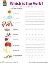 blasting off with verbs u2013 2nd grade english worksheet