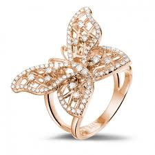 rings design gold diamond rings 0 75 carat diamond butterfly baunat