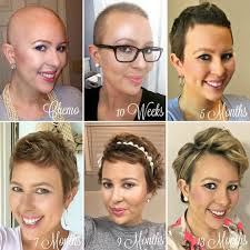 short haircuts for chemo patients 1 year hair growth chemo hairless my cancer chic hair