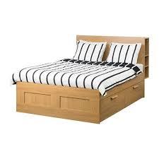 Brimnes Bed Frame Brimnes Bed Frame W Storage And Headboard Oak Effect Lönset