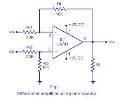 differential amplifier circuit tutorial using bjt and opamp