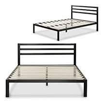 Bedframe With Headboard Zinus Modern Studio 14 Inch Platform 3000h Metal Bed