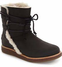 ugg australia sale ugg womens boots 8 zea leather black waterproof 1008018 uggs