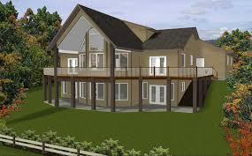 hillside home plans hillside house plans with an amazing landscape view homescorner com