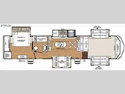 Forest River 5th Wheel Floor Plans New Forest River Rv Sandpiper 377flik Fifth Wheel For Sale