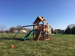 gorilla chateau swing set installed