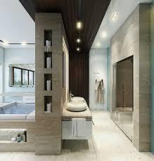 contemporary bathroom designs exposed gray and white color decor
