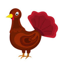 thanksgiving turkey circle icon royalty free vector image