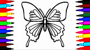colours for kids butterfly coloring pages l how to draw insects