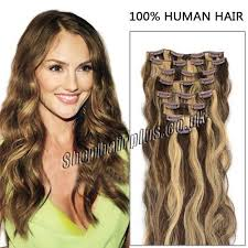 hair extensions uk 26 inch 12pcs thick clip in human hair extensions wavy
