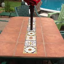 used leftover terra cotta floor tile and accented with talavera