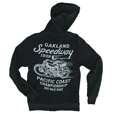 oakland speedway zip hoodie vintage inspired california apparel