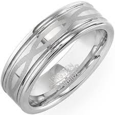 mens infinity wedding band tungsten carbide men s unisex ring wedding band 7mm high
