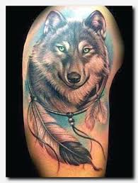 wolftattoo thigh lettering editor name