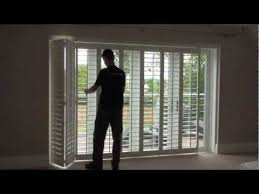 Plantation Shutters Sliding Patio Door How Top Open And Track Mounted Plantation Window Shutters