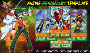 yugioh anime pendulum template by alanmac95 on deviantart
