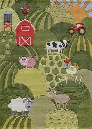 Kids Playroom Rugs by Whimsy Farm Rug In Grass Rosenberryrooms Com