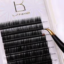 individual extensions c curl eyelash extensions 0 15mm mixed tray ellipse flat volume