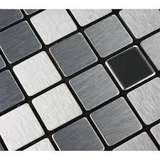 metallic kitchen backsplash mosaic tile sheets grey metallic kitchen wall tiles kitchen