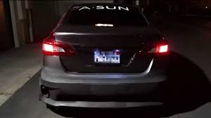 gray nissan sentra 2015 2013 2015 nissan sentra version 1 sequential tailights youtube