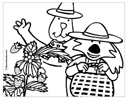 pages strawberry coloring page picture book sheet