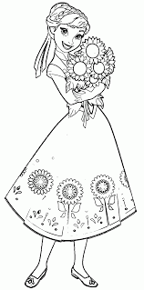 coloring elsa and anna coloringook frozen pages activity sheet