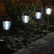 smart solar charleston solar pathway lights set of 6 heritage