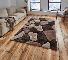 pebble rug beige brown pebble rug shaggy pile noble house soft tufted