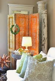 Room Divider Decor - the elegant side of rust a rust and platinum stenciled room