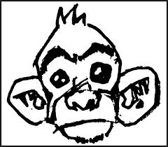 monkey face origional sketch by creebs on deviantart