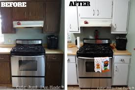 Before And After Painted Kitchen Cabinets by Pretty Paint Laminate Kitchen Cabinets On Kitchen Painting
