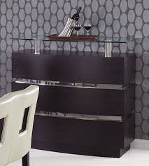 Gray Bar Cabinet Wenge Modern Bar Cabinet With Glass Shelves Gfg072bt Modern