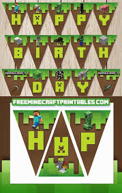 free minecraft printables free printable minecraft banner