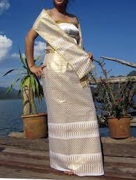 Thai Wedding Dress Thai Wedding Dress In Golden White Skirt Shirt Belt